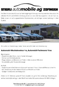 2018_Stellenausschreibung_Zofingen_Automobilmechatroniker